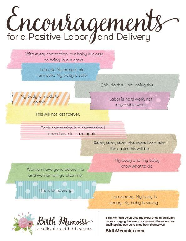 Download deze gratis print. Hou 'm bij de hand als je aan het bevallen bent voor een portie positieve inspiratie.
