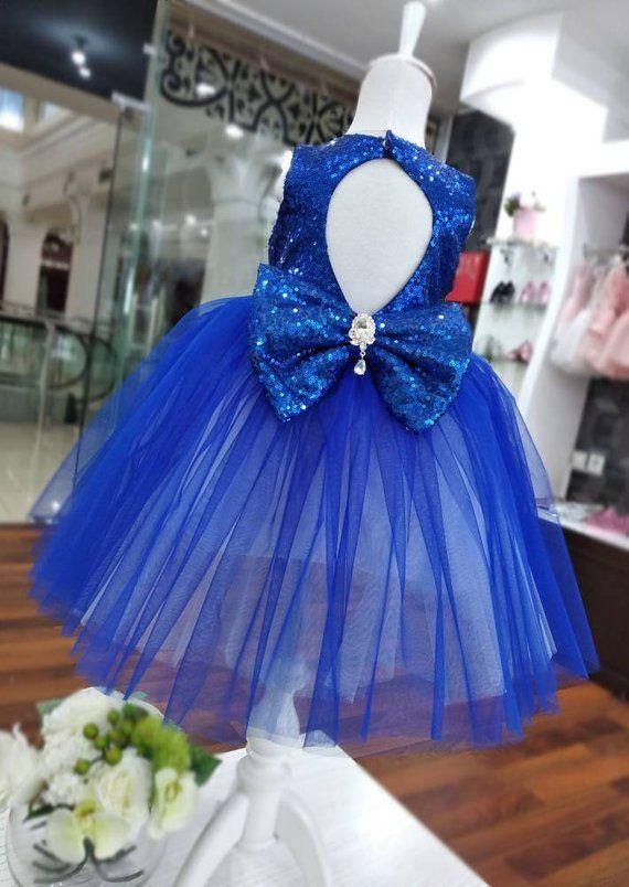 Girls royal blue dress 08396291d