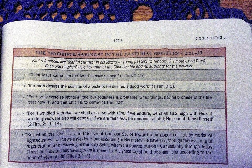 1f216b81d4e6 The Faithful Sayings in the Pastoral Epistles  God  Jesus  HolySpirit   Christian