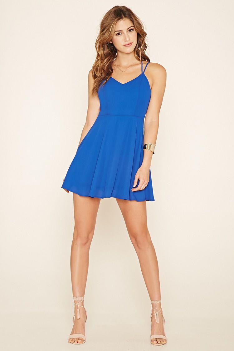 359688fbdb Double-Strap Skater Dress