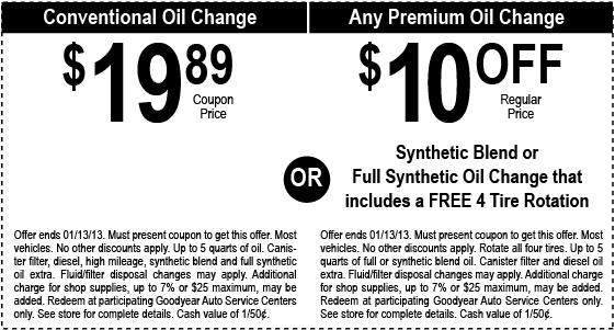 19 89 Standard Oil Change Oil Change Printable Coupons Coupons
