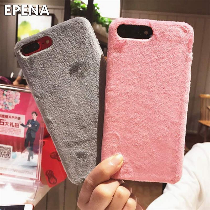 6ddd8aa69 EPENA Luxury Villus Fur Phone Case For Apple iPhone XS Max XR X Cover Hard  Smooth Plush Cases For iPhone 8 Plus 6 6S 7 Plus-in Fitted Cases from  Cellphones ...