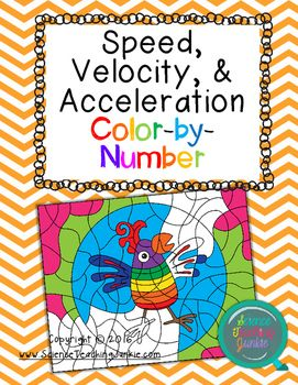 Speed, Velocity, & Acceleration ColorbyNumber Number