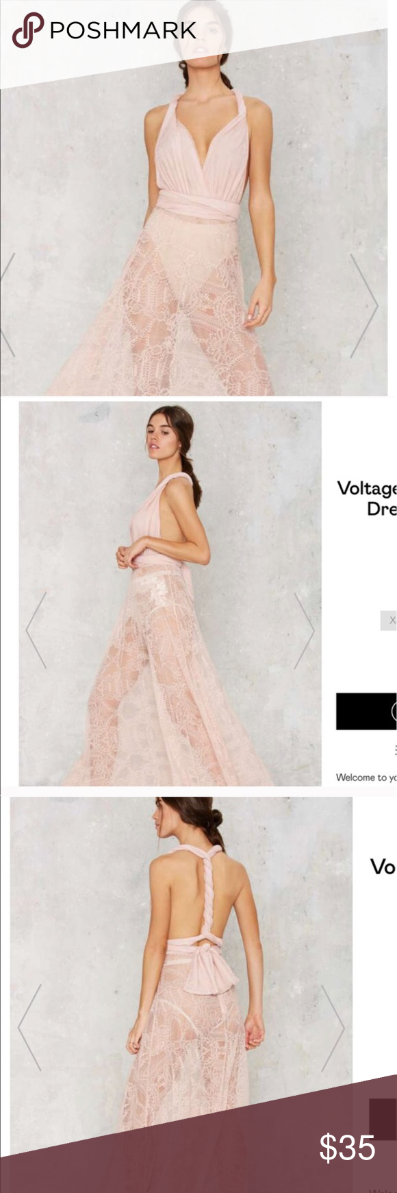 Pink see through lace dress  Long lace sheer dress pink nude  Sheer dress Nude and Models