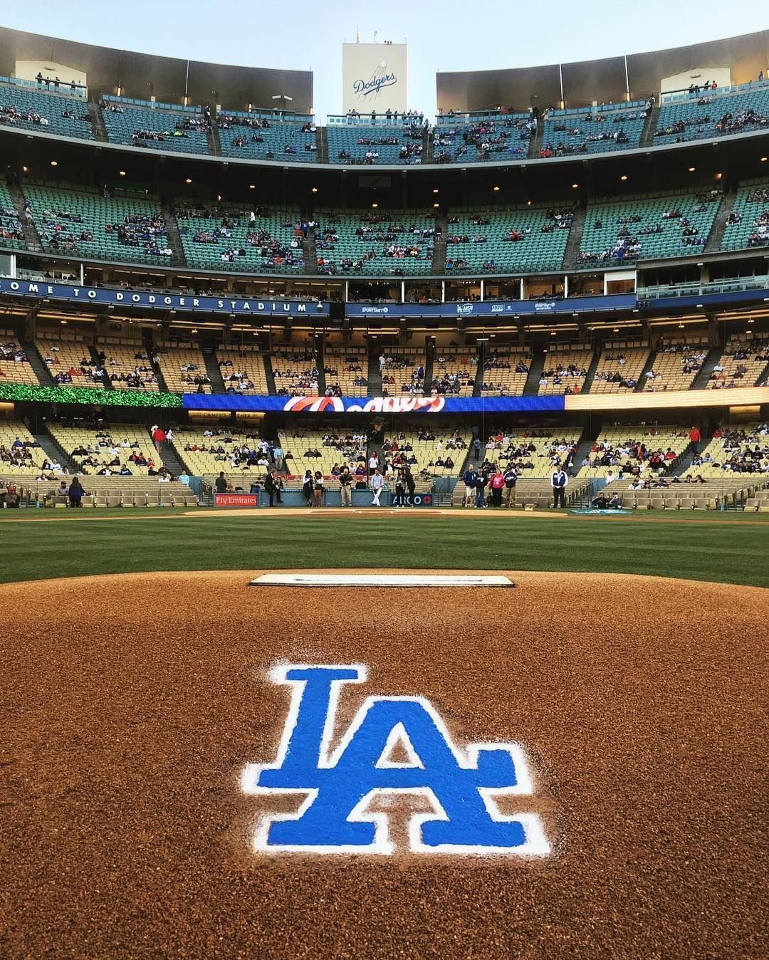 View From The Bump #Dodgers #thisislosangeles #openingday
