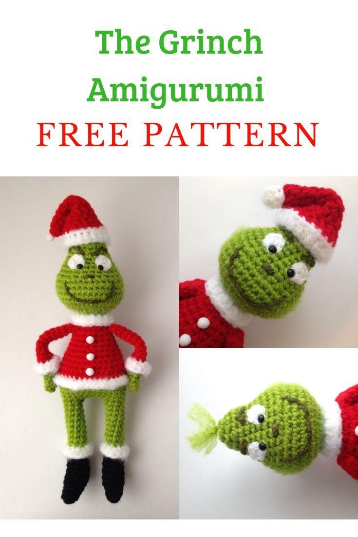 The Grinch Amigurumi #crochettoys