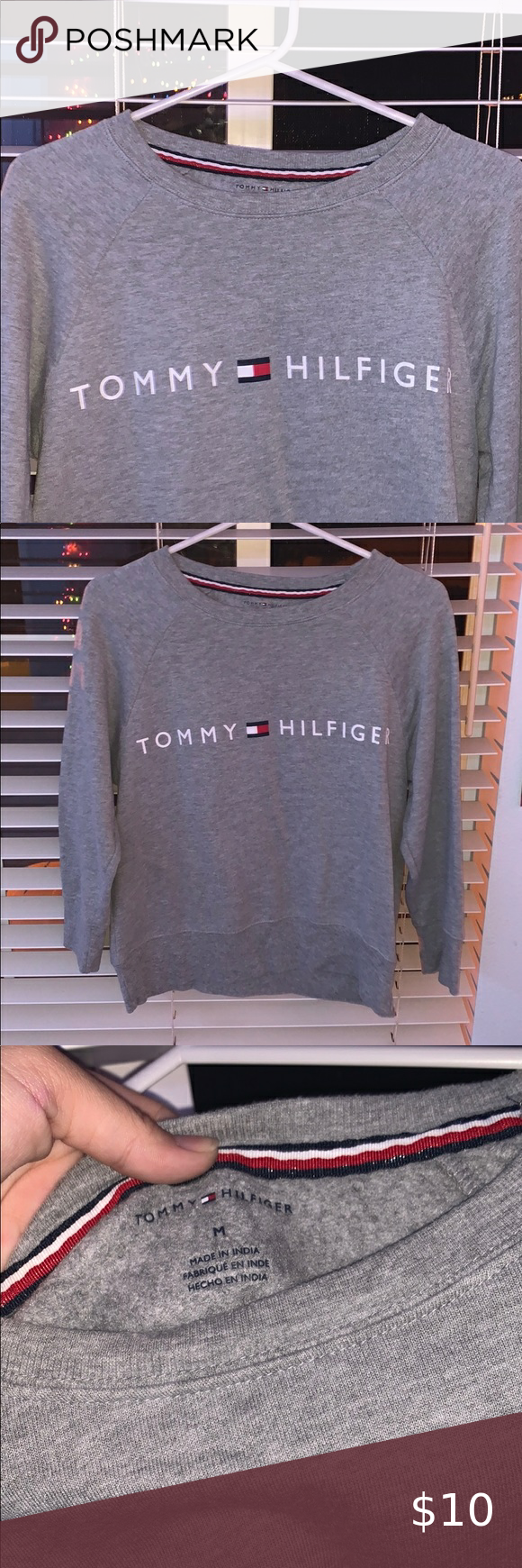 Gray Tommy Hilfiger Crew Neck Tommy Hilfiger Tommy Hilfiger Sweatshirt Tommy Jeans Sweatshirt [ 1740 x 580 Pixel ]
