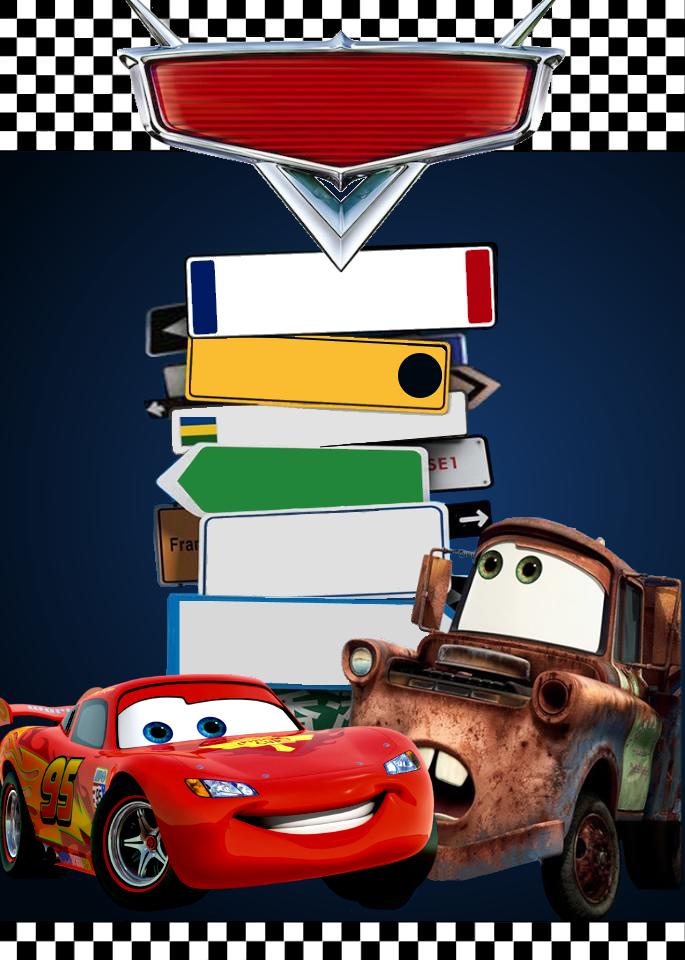 Pin De L Ca En Cars Invitaciones Cars Invitaciones
