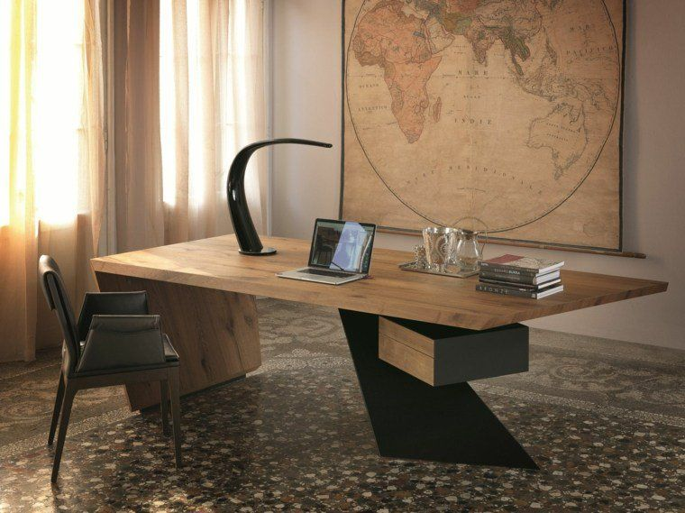 Bureau bois design belles propositions meubles