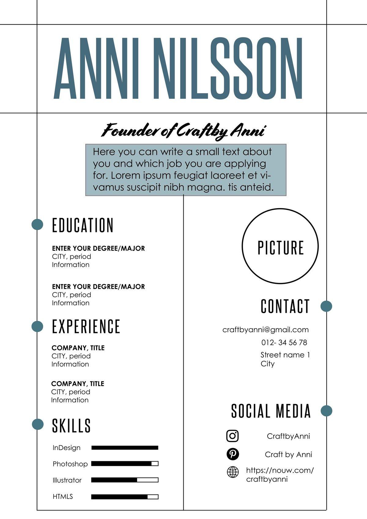 ✄ RESUME/ CV SUNDAY #resume #CV | Jobb | Pinterest | Resume cv