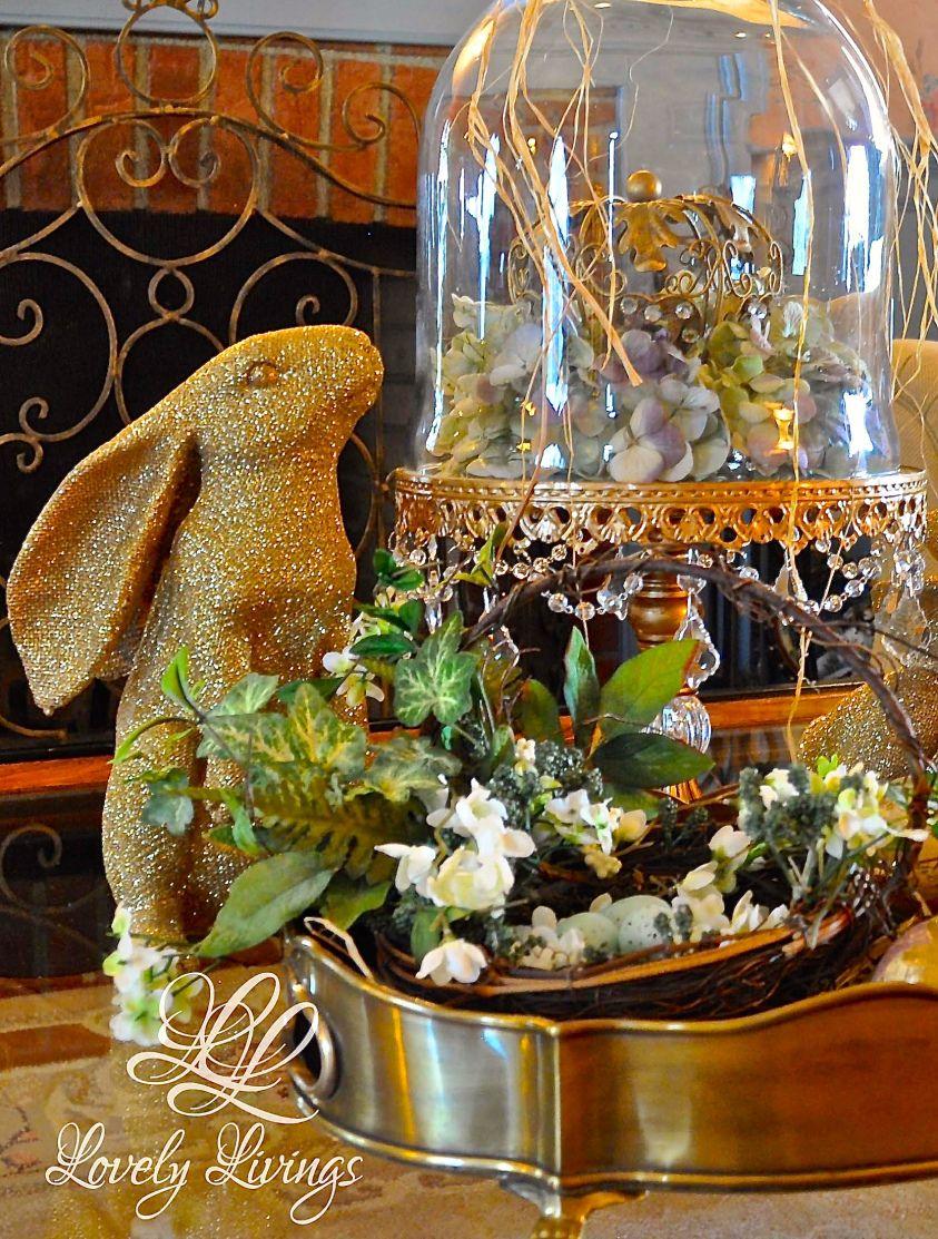 Golden Easter http://lovelylivings.com/2015/03/24/golden-easter/