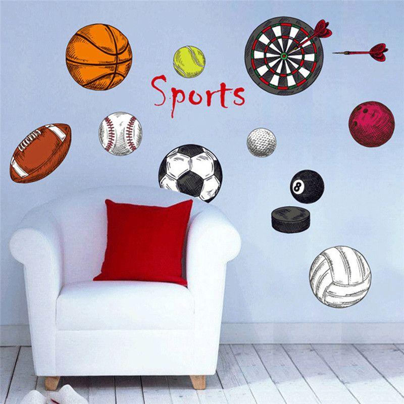 Sports DIY PVC Plane Wall Stickers Home Decor Art Decals