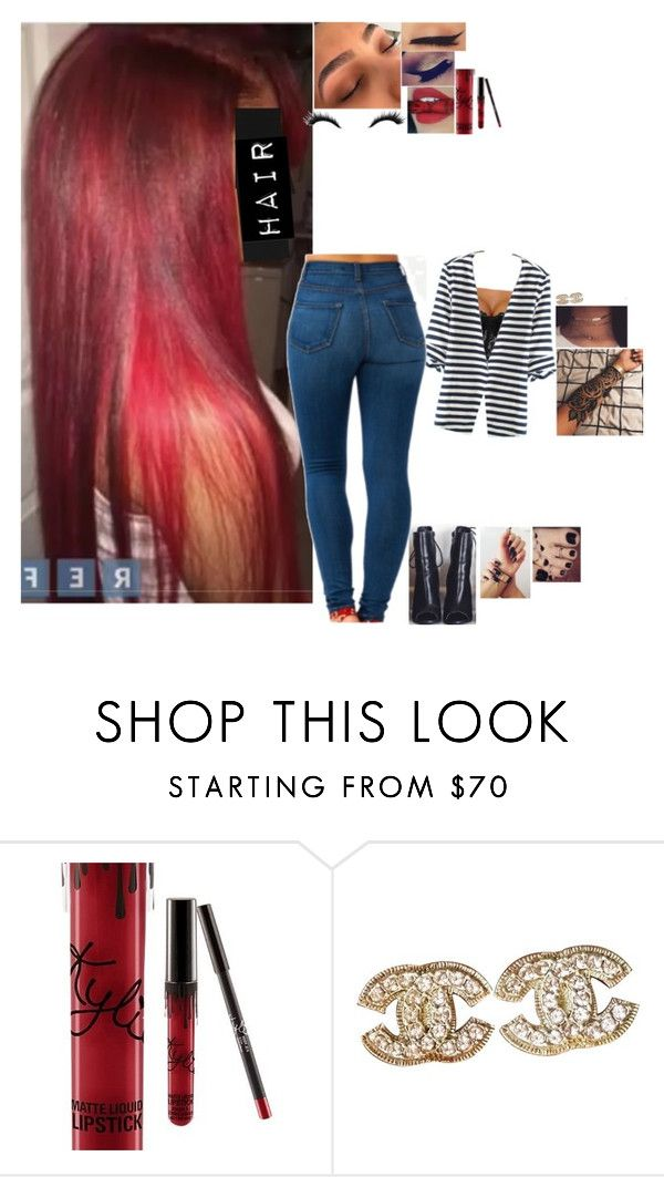 """Untitled #4592"" by bby-16-gul ❤ liked on Polyvore featuring Kylie Cosmetics and Chanel"