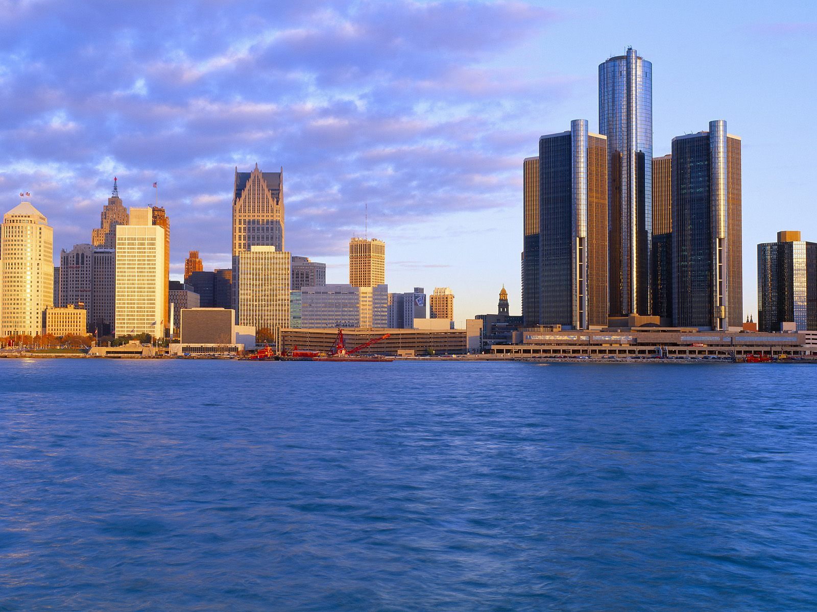 Pictures Of Detroit Michigan Detroit At Sunrise Michigan Wallpapers Hd Wallpapers Detroit Skyline Skyline Michigan Image
