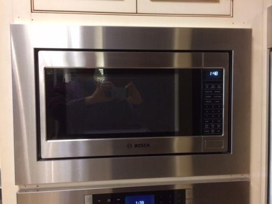 Custom Trim Kit for Bosch microwave, model # HMB5051 in a dealer showroom | Trim kit, Microwave ...
