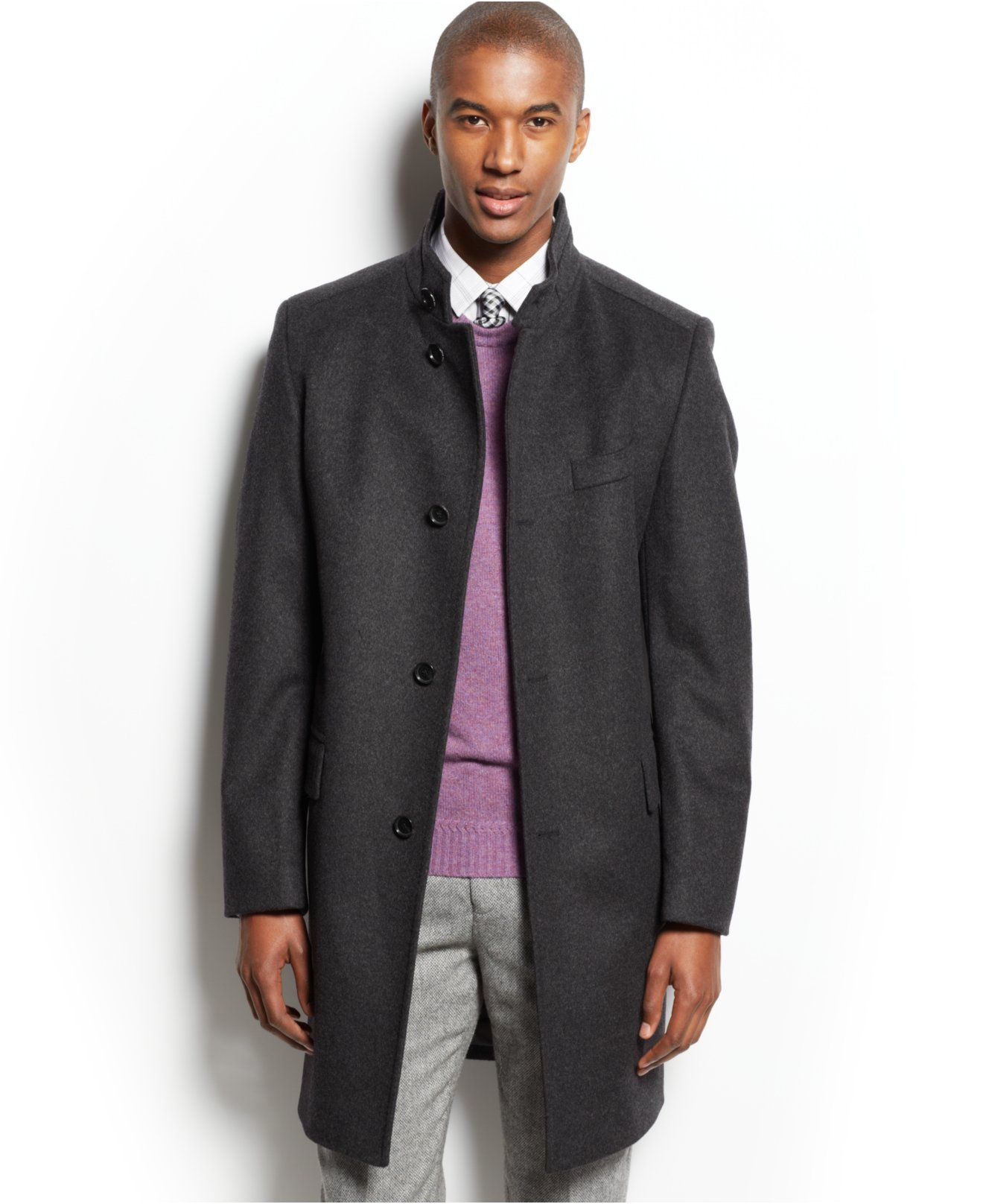 boss by hugo boss sintrax solid wool cashmere overcoat. Black Bedroom Furniture Sets. Home Design Ideas