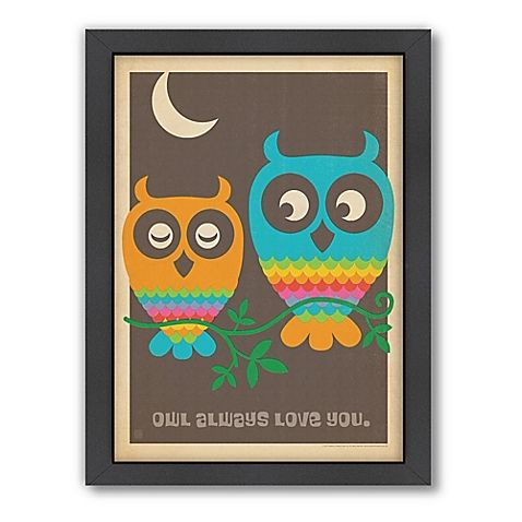 Mod Owls Framed Wall Art by Anderson Design Group | Bed Bath & Beyond