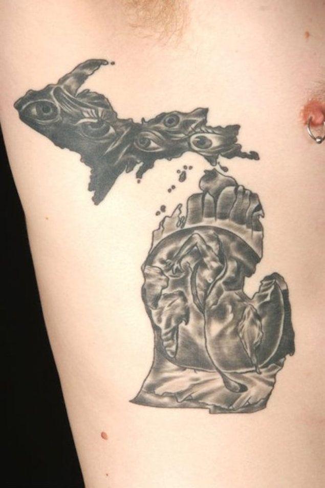 43 spectacular state of michigan tattoos michigan