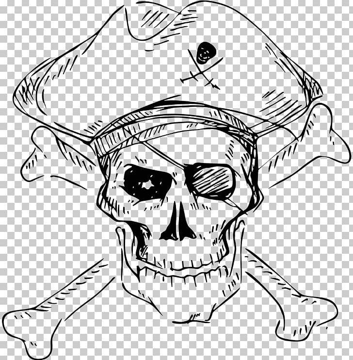 Piracy skull and crossbones stock photography human skull