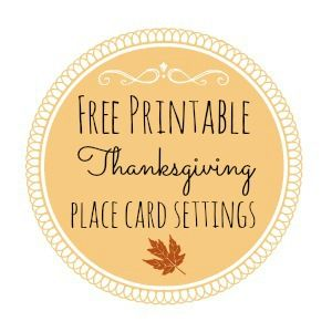 Thanksgiving Free Printable Series – Place Card Settings | Place ...