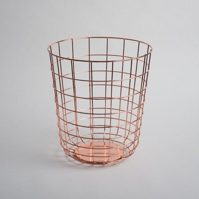 Corbeille/ Panier Wire Cuivre – Menu - boCorner | Office Space ...