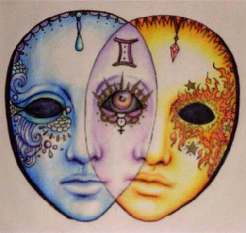 Gemini art, Gemini tattoo, Zodiac art