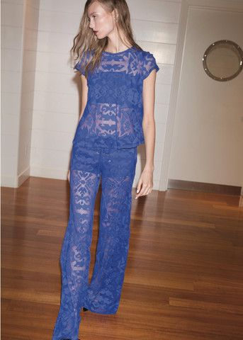 b008bcdb2b83 Alexis Lille Wide Leg Pant with Lace Up in Indigo
