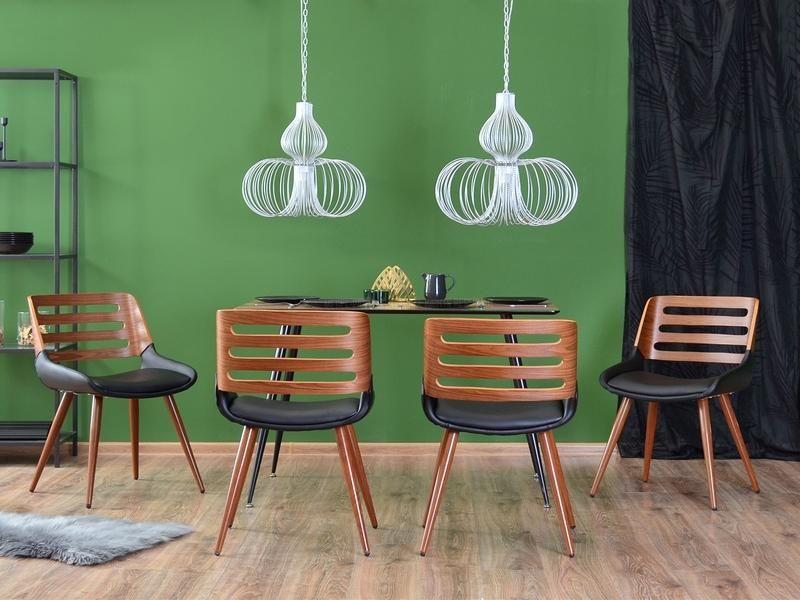 Eleganckie krzesło gięte do jadalni lub salonu drewniane z