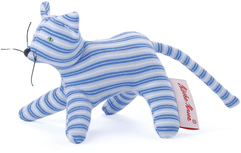 K/äthe Kruse 0178374 Mini Greifling Katze Ringel blau