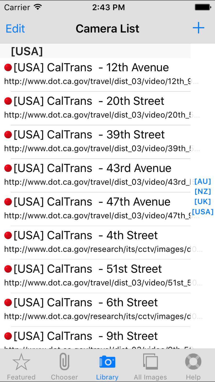 TrafficCamNZ Lite TravelNavigationappsios App, Edit