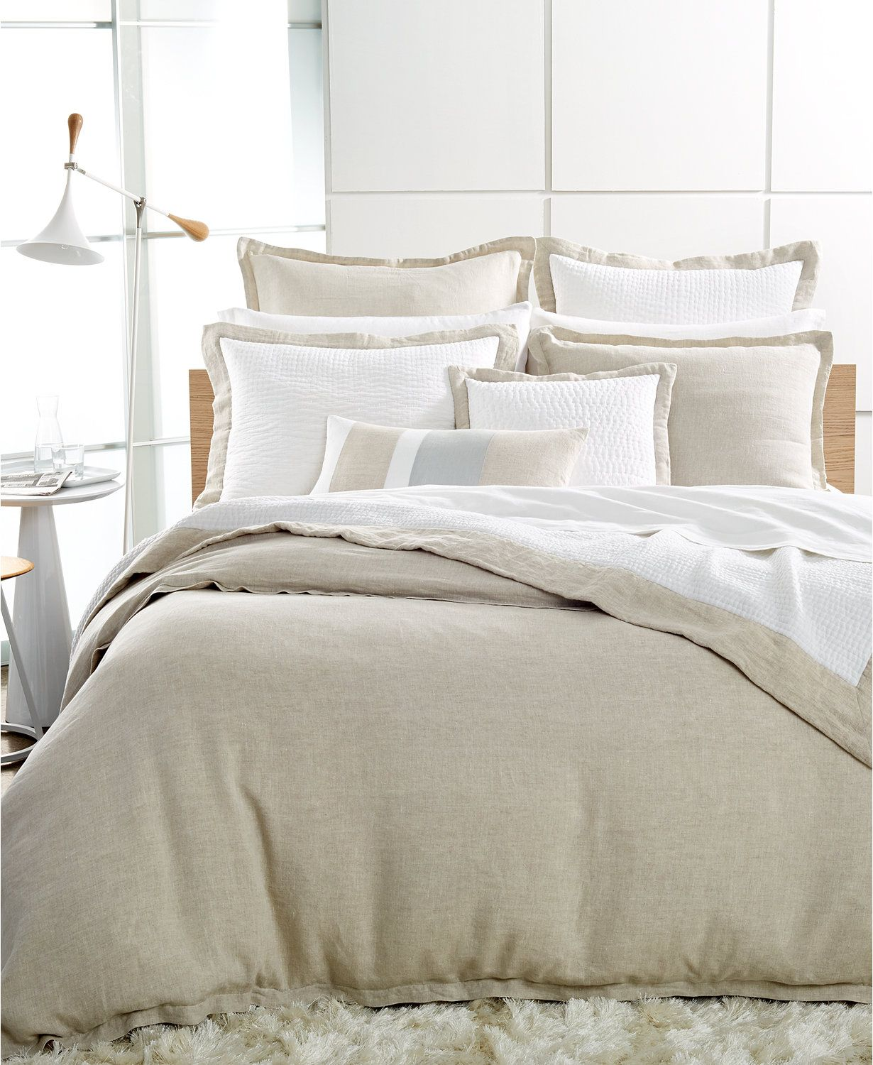 Hotel Collection Linen Natural Queen Duvet Cover Macys Com