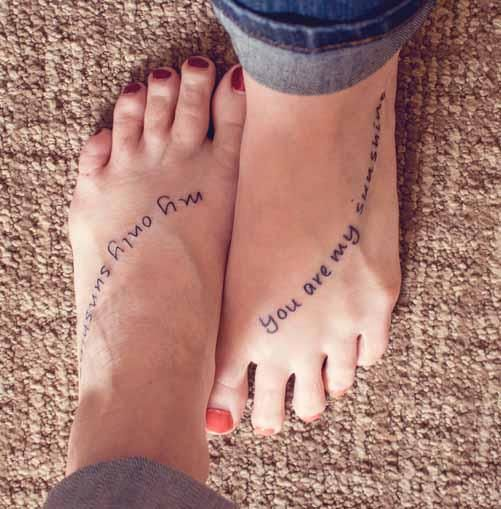 Mother Daughter Tattoo On Foot Tattoos For Daughters Tattoo