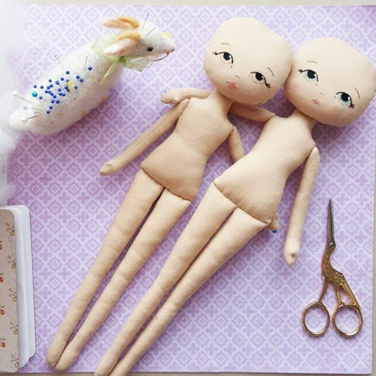 Besties! #gingermelon #dollmakers #clothdoll #handembroidery #doll ...