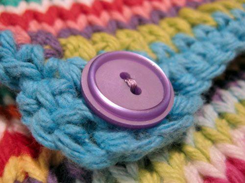 Tunisian crocheted purse tutorial