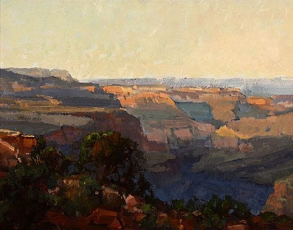 """''Lava Point Overlook (North Rim, Grand Canyon),'' Kathryn Stats, oil on canvas board, 11  14"""", private collection."""