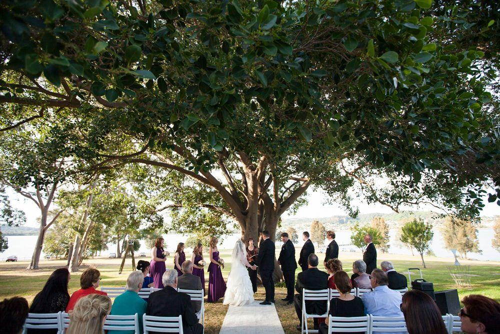 Awaba House NSW outdoor wedding ceremony
