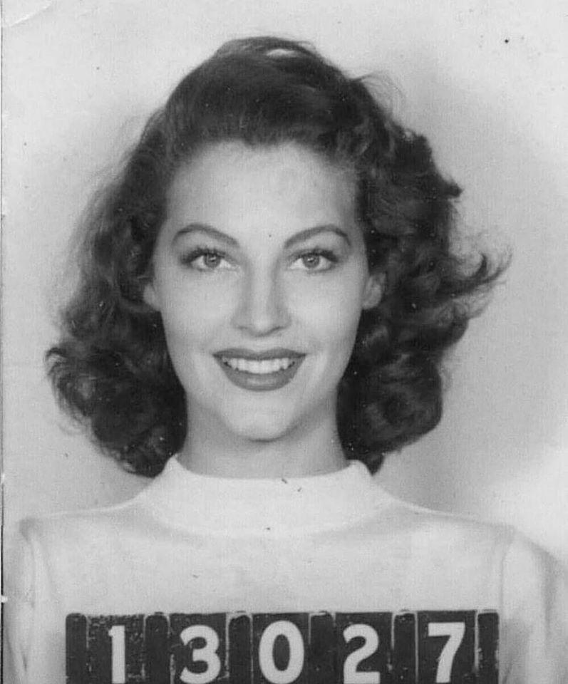 Photo of starlet Ava Gardner (19221990) that