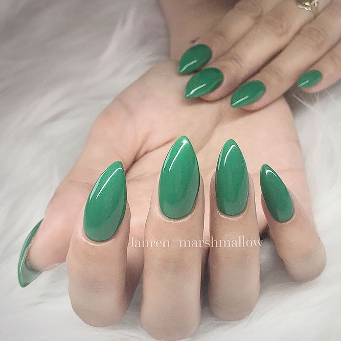 30 Hot Almond Shaped Nails Colors To Get You Inspired To