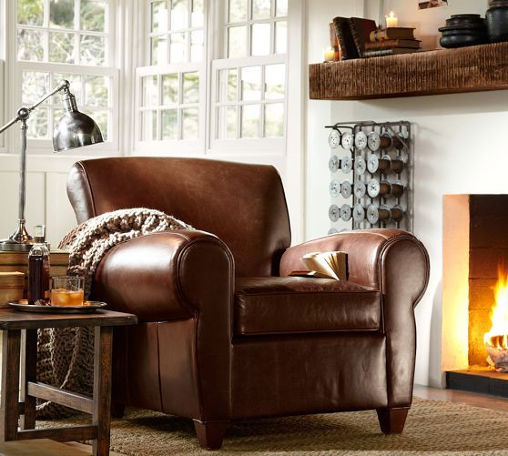 Benchwright Floating Shelves Leather Club Chairs Home Furniture
