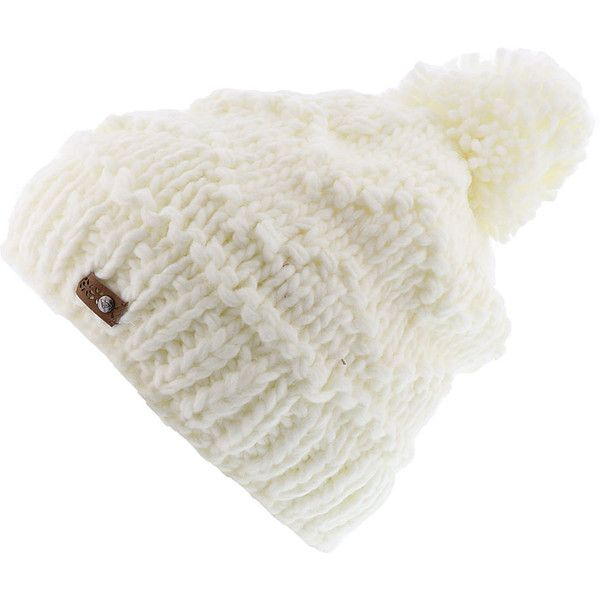 07e9c2eec6c Roxy Snow Women s Winter Beanie White Hats ( 27) ❤ liked on Polyvore  featuring accessories