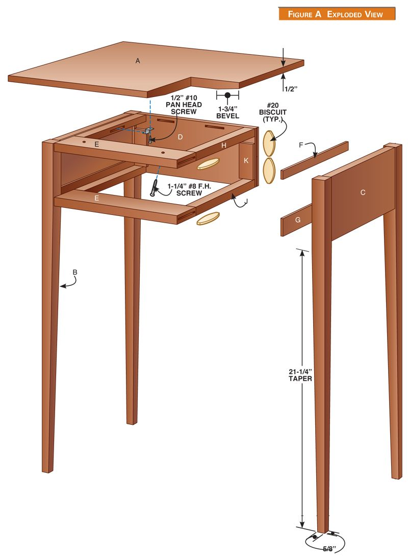 shaker table popular woodworking