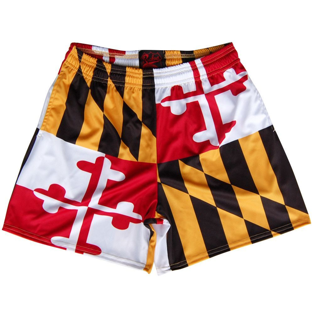 Maryland Flag Rugby Shorts Rugby Shorts Maryland Flag Shorts