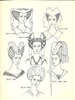 Hair Fashion Women Hairstyle Medieval Mediumaevum Historical Hats Medieval Medieval Fashion