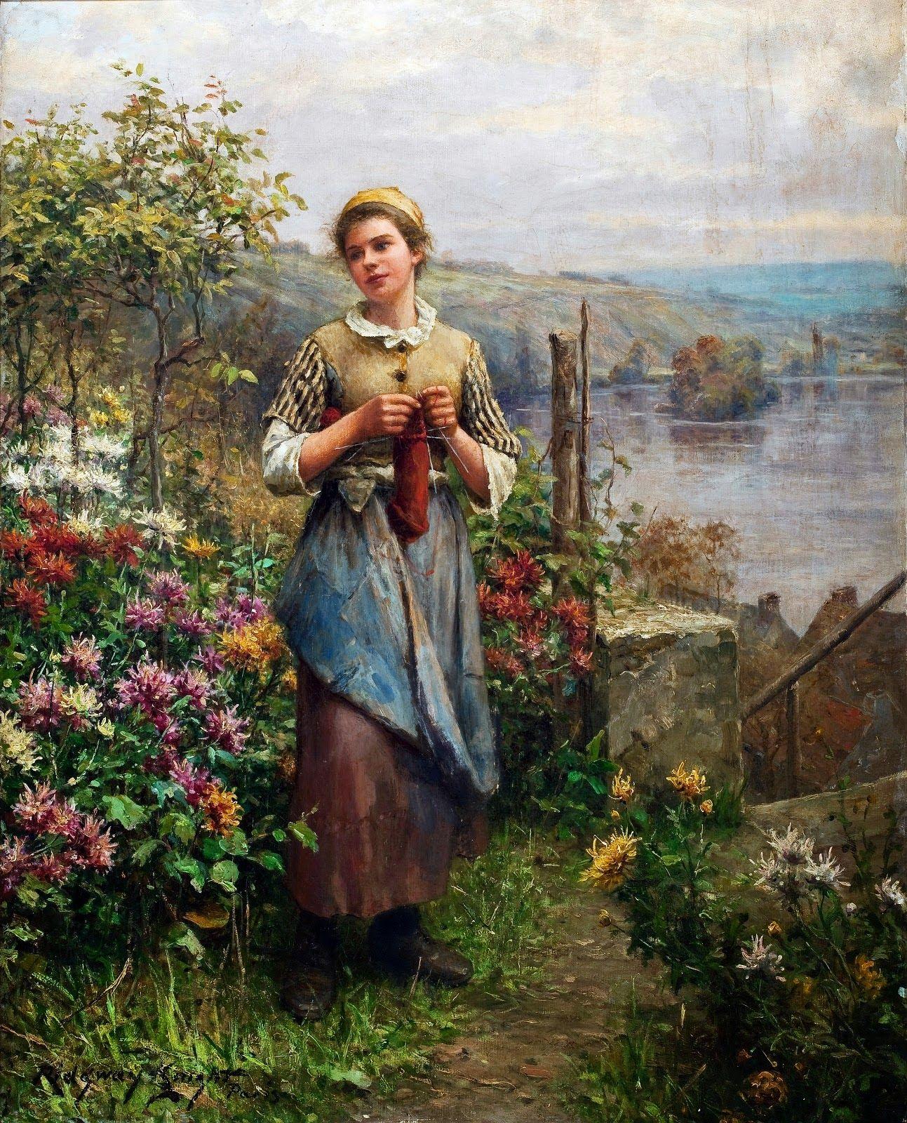 Daniel+Ridgway+Knight+-+Young+Woman+Knitting.jpg (1293×1600)