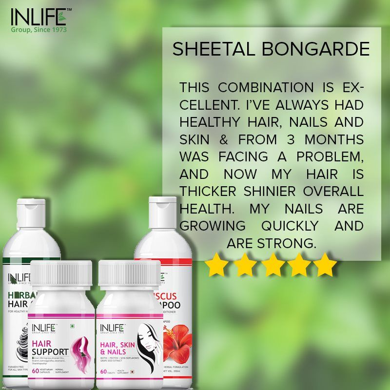 Inlife Products Are Completely Natural And Promote Hair Growth You Can Also Follow Us On Instagram Promote Hair Hair Growth Supplement Promotes Hair Growth