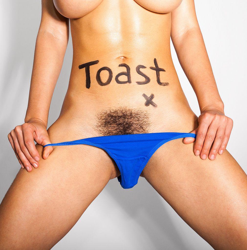 Hairy bush panties