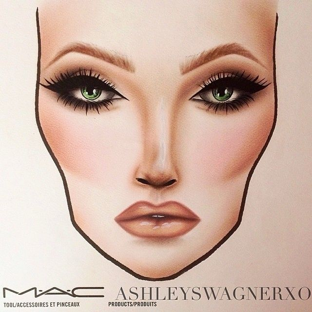 Prom Makeup facechart! #prom #makeup #facechart # ...