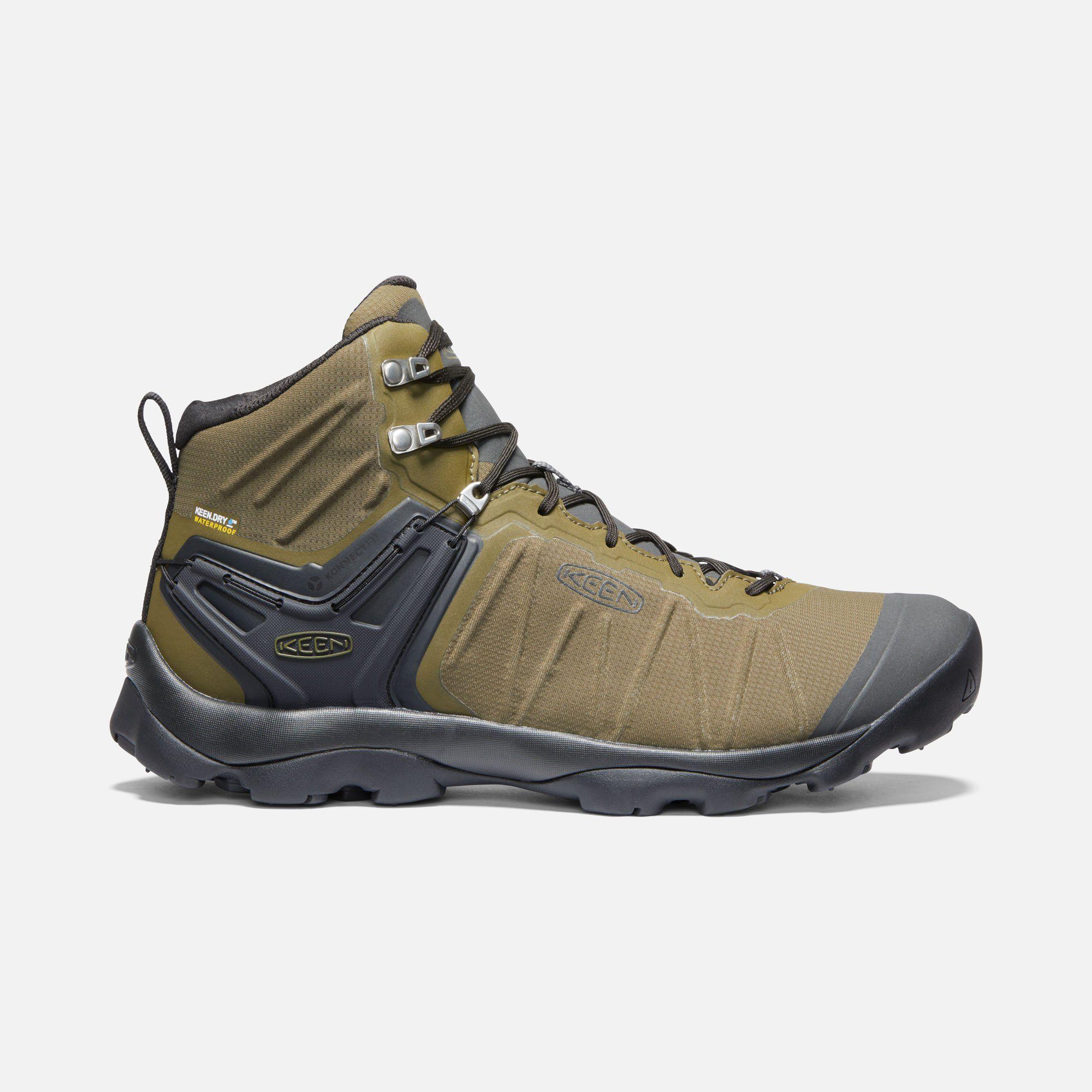Keen Men S Waterproof Hiking Boots Venture Mid 7 5 Dark Olive