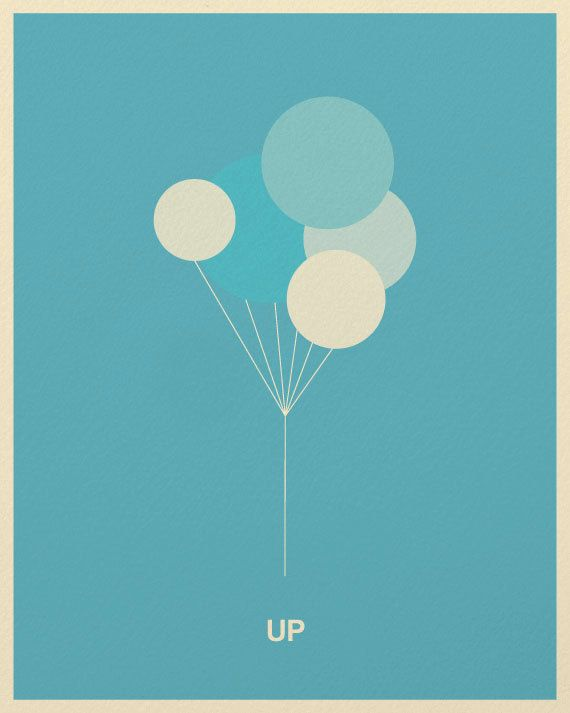 Excepcional Minimalist Pixar Posters from Posterinspired - UP | créatif  MB35