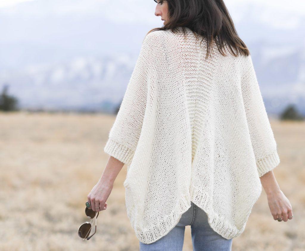 Breckenridge Knit Topper Cardigan Pattern in 2020 | Shrug